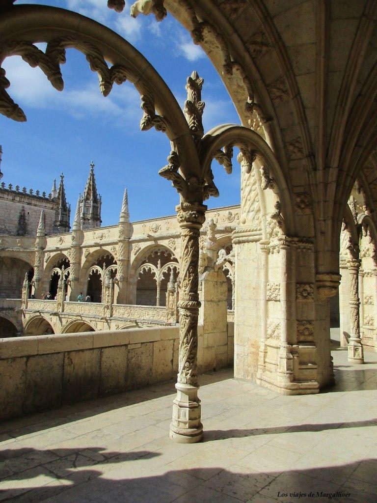 Claustro del Convento de los Jerónimos en el barrio de Belem, Lisboa - Los viajes de Margalliver